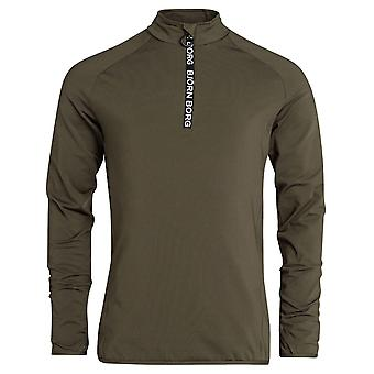 Bjorn Borg Mens Half Zip Polo Alve Workout Thumb Holes Pull