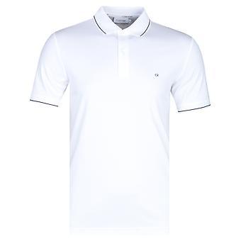 Calvin Klein Soft interlock slim fit tipped hvid Polo skjorte