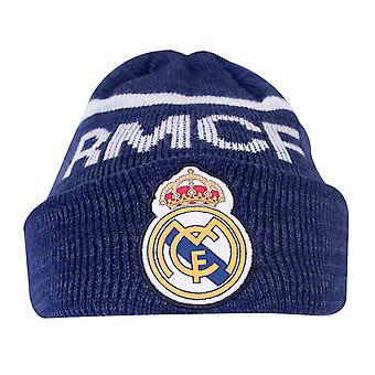 Real Madrid CF Adultes Unisex Turn Up Cuff Chapeau tricoté