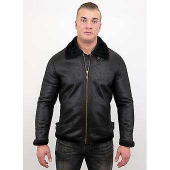 Shearling Jacket - Lammy Coat - Black