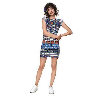 Desigual Women's Fiona Stretchy Tropical Mini Dress