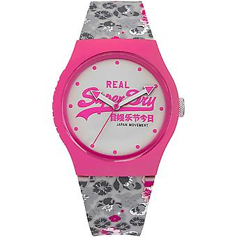 Watch Superdry Urban Floral SYL169EP - modern two-tone woman