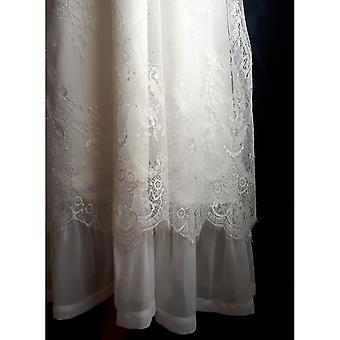 Doping jurk in witte Lace Withdark groene boog. Genade van Zweden