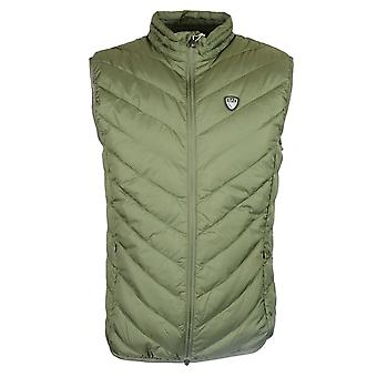 EA7 by Emporio Armani Polyester Zip Up Forest Green Gillet