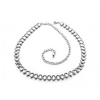 Ceinture de la chaîne de taille en strass en strass 45 pouces Diamante Large