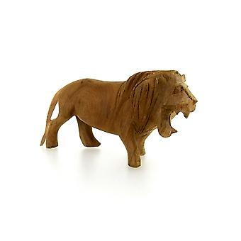 Grande figurine de sculpture de lion faite à la main -16cm