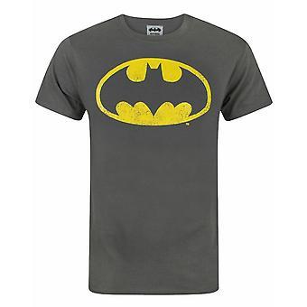 Batman distressed logo kull menn & apos; s t-skjorte