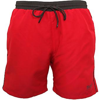 BOSS Starfish Swim Shorts, Cerise With Charcoal Contrast