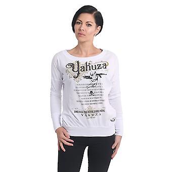 YAKUZA Women's Long Sleeve Shirt Armed Angel Boyfriend