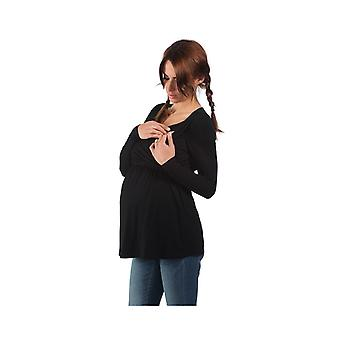 The Essential One Long Sleeve Nursing Top Black