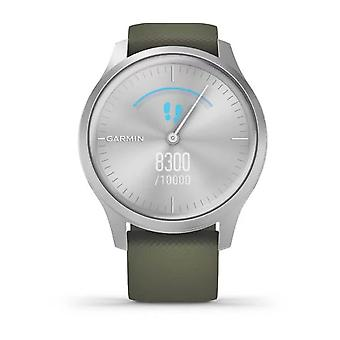 Garmin Watches 010-02240-01 Vivomove Style Silver Aluminium Case & Moss Silicone Band Watch