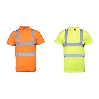 RTY haute visibilité Mens High Vis Polo Shirt