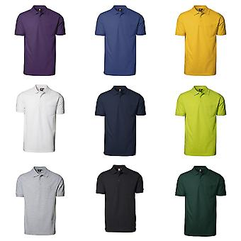 ID Mens Pro Wear Short Sleeve Regular Fitting Polo Shirt With Pocket