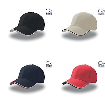 Atlantis Pilot Piping Sandwich Premium Bürste Baumwolle 6 Panel Cap