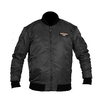 West Coast Choppers Men's Bomber Jacket MA-1 Eagle Black