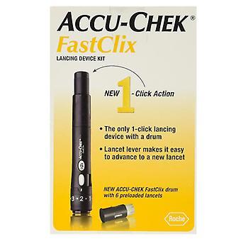 Batteri-chek fastclix lancing enheten kit, 1 ea