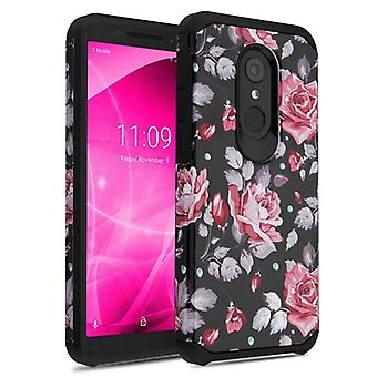 ASMYNA Astronoot Case for T-Mobile Revvl 2/Revvl 2/3 - Pinky White Rose/Black