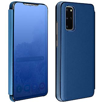 Flip Case, Mirror Case for Samsung Galaxy S20 Plus, Standing Cover - Blue