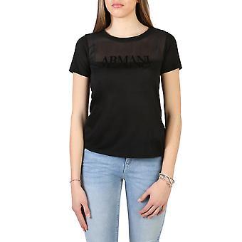 Armani Jeans Original Women Spring/Summer T-Shirt Black Color - 70739