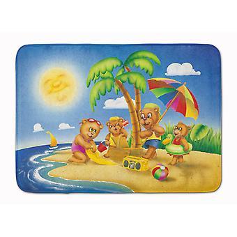 Ours en jouant sur la plage de Machine tapis de mousse de mémoire lavable