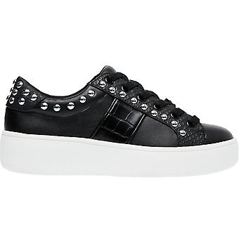 Steve Madden Womens Belle Lace Up Studded Fashion Trainers