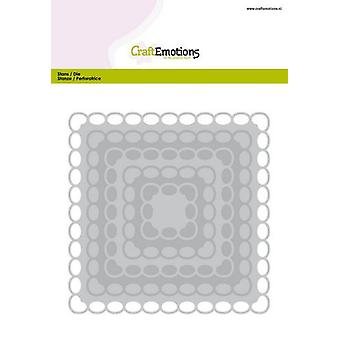 CraftEmotions Big Nesting Sterben - Quadrate Scalop XL ovale Karte 150x160 6,8-15,0cm (01-20)