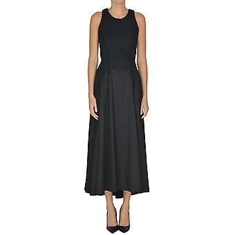 Yohji Yamamoto Ezgl123009 Women's Blue Cotton Dress