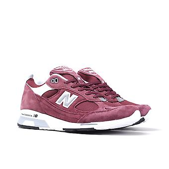 New Balance M991.5 Made in England Bordeaux Wildleder Trainer