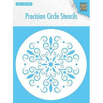 Nellie's Choice Precision stencils Round stencil flower MMPCS004 135x135mm
