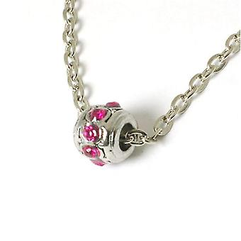 The Olivia Collection Sparkly Pink Crystal Bead On 18
