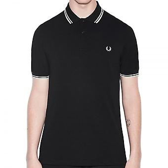 Fred Perry M3600 Twin Tipped Polo Noir/porcelaine