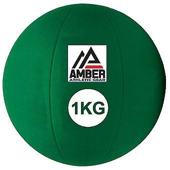 Amber Sports Rubber Medicine Ball gewogen kracht / duurtraining 1 kg