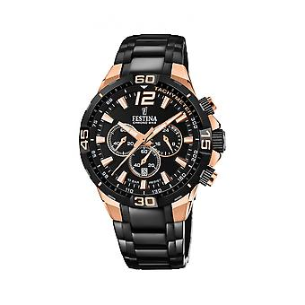 Festina F20525-1 Uomini's Chrono Bike Special Edition Black Strap Wristwatch