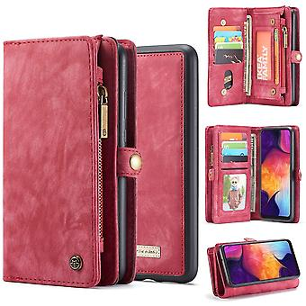 For Samsung Galaxy S10 5G Case Red PU Leather Folio Cover