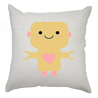 Robot Cushion Cover 40cm x 40cm - Orange Robot