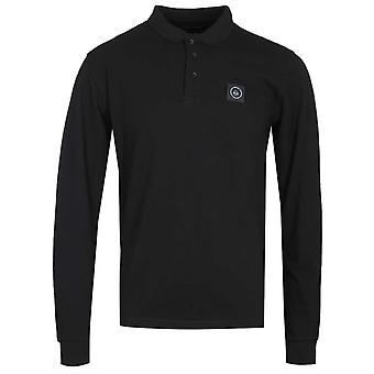 Marshall Artist Siren Long Sleeve Black Polo Shirt