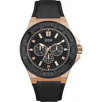 Guess W0674G6 Chronograph Quartz with Leather Strap Men's Watch