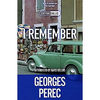 I Remember by Georges Perec - 9781910477854 Book