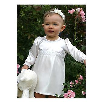 After Baptism Dress With Roses For Babys, Size 56 - 86
