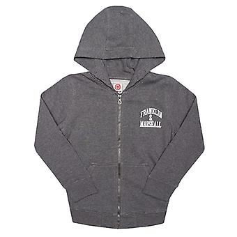 Boy's Franklin And Marshall Infant Badge Logo Zip Hoody in Grey