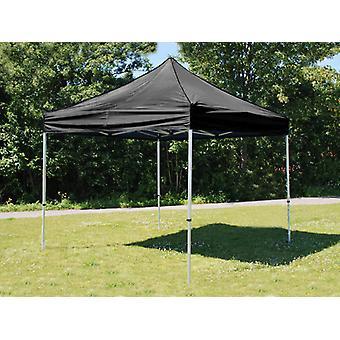 Vouwtent/Easy up tent FleXtents PRO 3x3m Zwart, Vlamvertragende