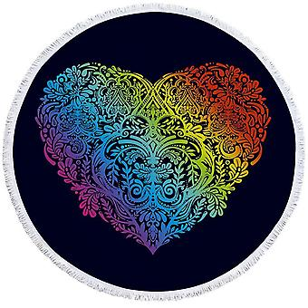 Colorful Art Heart Beach Towel