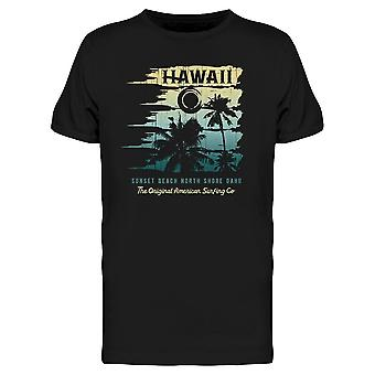 Hawaii Sunset Beach. Tee Men-apos;s -Image par Shutterstock