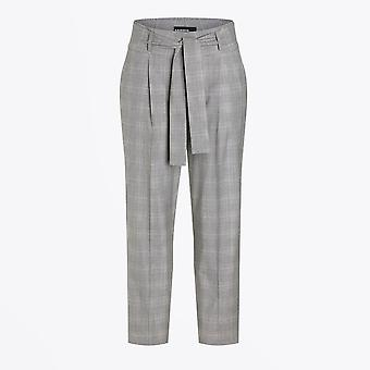 Cambio - Kristine Checked Belted Pants - Grey