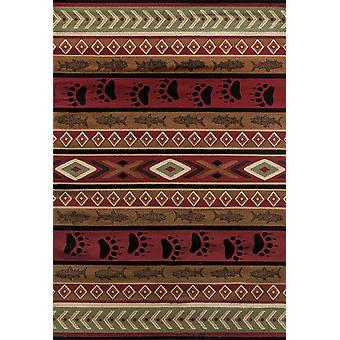 """22"""" x 36"""" Brązowy dywan z polipropylenu"""