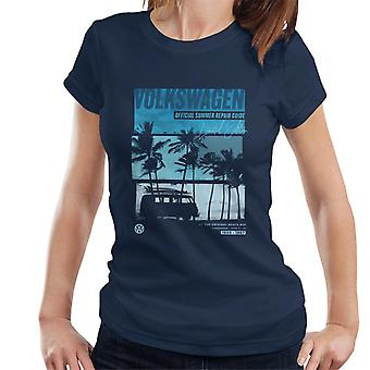 Volkswagen officiella Sommar Reparation Guide Design Kvinnor & Apos, s T-shirt