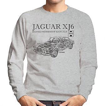 Haynes Owners Workshop Manual 0242 Jaguar XJ6 Black Men's Sweatshirt