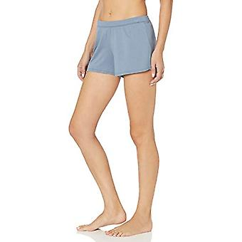 Brand - Mae Women's Cotton Modal Jalai Lounge Short, dusty blue, Medium