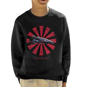 SSV Normandy SR 1 Retro Japanese Mass Effect Kid's Sweatshirt