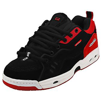 Globe Ct-iv Classic Mens Skate Trainers in Zwart Wit Rood